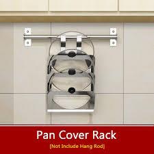 2019 wall hanging kitchen rack shelf 304 stainless steel pot lid racks kitchen storage holder pan pot cover storage frame from lb875431527 34 18 dhgate