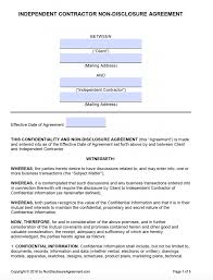 Download independent contractor agreement for free. Free Independent Contractor Non Disclosure Agreement Nda Pdf Word Docx