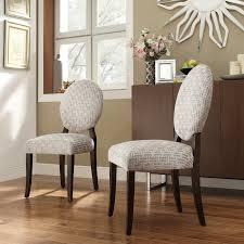 inspire q blanca round back gray chain print fabric dining chairs set of 2 walmart