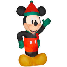 gemmy 6 ft x 2 88 ft lighted mickey mouse christmas inflatable