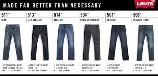 Paris Blues Size Chart 47 Prototypic Levis Mens Jeans Style Chart