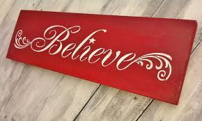 Believe Signs Decor BELIEVE in the MAGIC of CHRISTMAS rustic holiday sign Holidays 2