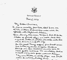 imageportion of reagans alzheimers letter from the inside ronald reagan alzheimer039s letter
