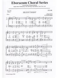 sheet music silent night franz gruber silent night satb choral sheet music sheet music