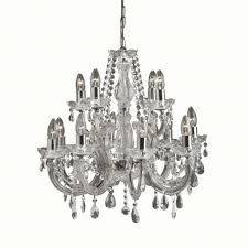 Kristall 12x Lampe Chrom In Kronleuchter Glanzvoller Decke