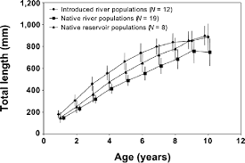 Age Growth And Mortality Of Introduced Flathead Catfish In