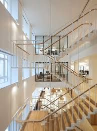 Office Stairs Piercy Company Suspends Staircase In New Atrium Of Savile Row