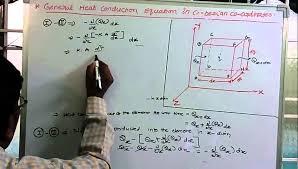 general heat conductio equation in cartesian coordinates