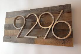 Wood Address Signs Outdoor Decor Amazon Reclaimed Wood Address Plaque Rustic Reclaimed Wood 29