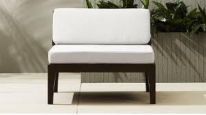 cb2 patio furniture. elba armless chair cb2 patio furniture