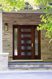 toronto contemporary entrance with modern outdoor wall lights and sconces entry natural stone wood glass door