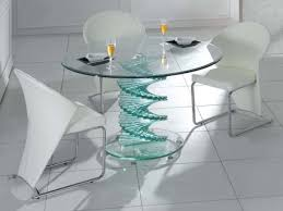 unique glass dining table round glass dining table