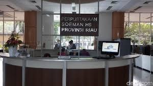 Hasil gambar untuk Perpustakaan Soeman H.S, Termegah dan Unik di Indonesia