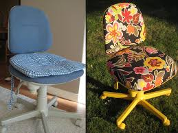 office chair reupholstery. Recover An Old Desk Chair. Office Chair Reupholstery E