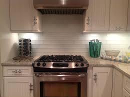 frosted white glass subway tile kitchen backsplash