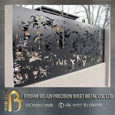 laser cut metal perforated wall panel 350x350