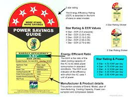 Eer Rating Chart 2018 Ac Power Consumption Electricity Bill Calculation Top10