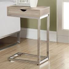 unique metal and glass nightstands — new decoration  install a