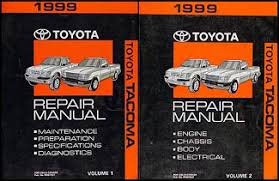 1999 toyota tacoma pickup wiring diagram manual original 1999 toyota tacoma repair shop manual original set 219 00