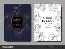 Elegant Invitation Cards Vector Elegant Wedding Invitation Cards Yellow Purple Irises