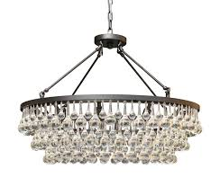 celeste glass drop crystal chandelier black