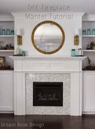 diy fireplace mantel tutorial