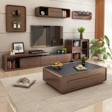 leheju coffee table fire stone coffee table tv cabinet set nordic simple coffee table walnut color 1 3m coffee table