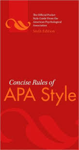 Apa Style Edition 6 Concise Rules Of Apa Style Edition 6 Other Format