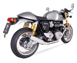 remus custom tapered slip on exhaust triumph thruxton 1200 r