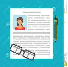 Writing A Business Cv Resume Stock Vector Image 56897523