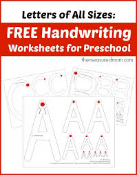 Practice Writing Letters Template Best Teaching Handwriting The Measured Mom