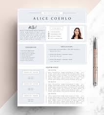 Modern Resume Etsy Cv Resume Template Word 1 Page Resume Template Modern Resume Template Creative Resume Template Teacher Resume Template Minimalistic
