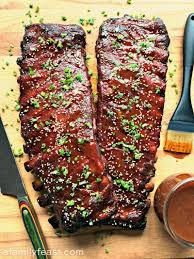 sweet and y smoked pork ribs