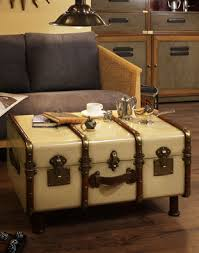... Luggage Coffee Table- Ivory. Image Gallery: