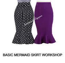 Mermaid Skirt Pattern Gorgeous Sew Basic Mermaid Skirt Astitchworks