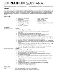 Hairstylist Cv Example For Personal Services | Livecareer