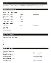 Resume Blank Form Download 46 Blank Resume Templates Doc Pdf Free Premium Templates