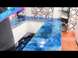 how to make resin countertop table top diy