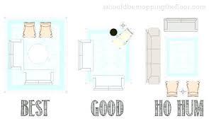 area rug size for living room standard