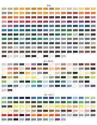 Ral Chart A2 Wall Colour Chart
