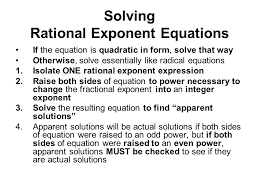 33 solving rational exponent equations