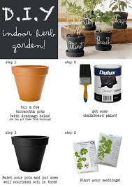indoor herb garden ideas. Diy Chalk Paint Pots Indoor Herb Garden Ideas