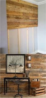 another way to install a pallet wall is to first 1x4s onto wall studs then the pallet boards onto the 1x4s