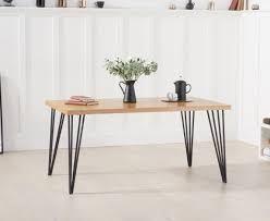 ginan wooden dining table in ash with