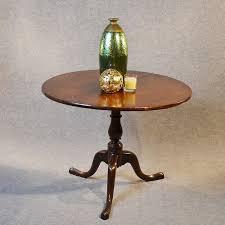 antique oak wine tripod lamp side occasional round table english georgian c1760