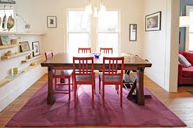 be confident with color how to integrate red chairs in the dining room regard idea 18