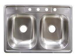 stainless steel 50 50 double bowl top mount sinks 19