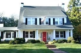 gray house white trim black shutters gray house red door white house black trim red door