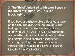 mockingbird in to kill a mockingbird essay questions formatting  essay questions for to kill a mockingbird