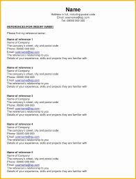 Resume Reference Sheet Example New 6 7 Job References Example